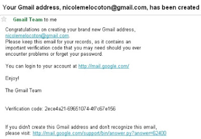 Gmail Account Creation Confirmation