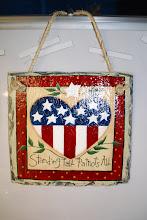 Americana Slate Painting