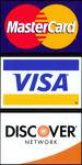 We accept Cash,Checks & These CC