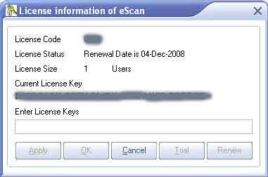 escan antivirus license key free download crack