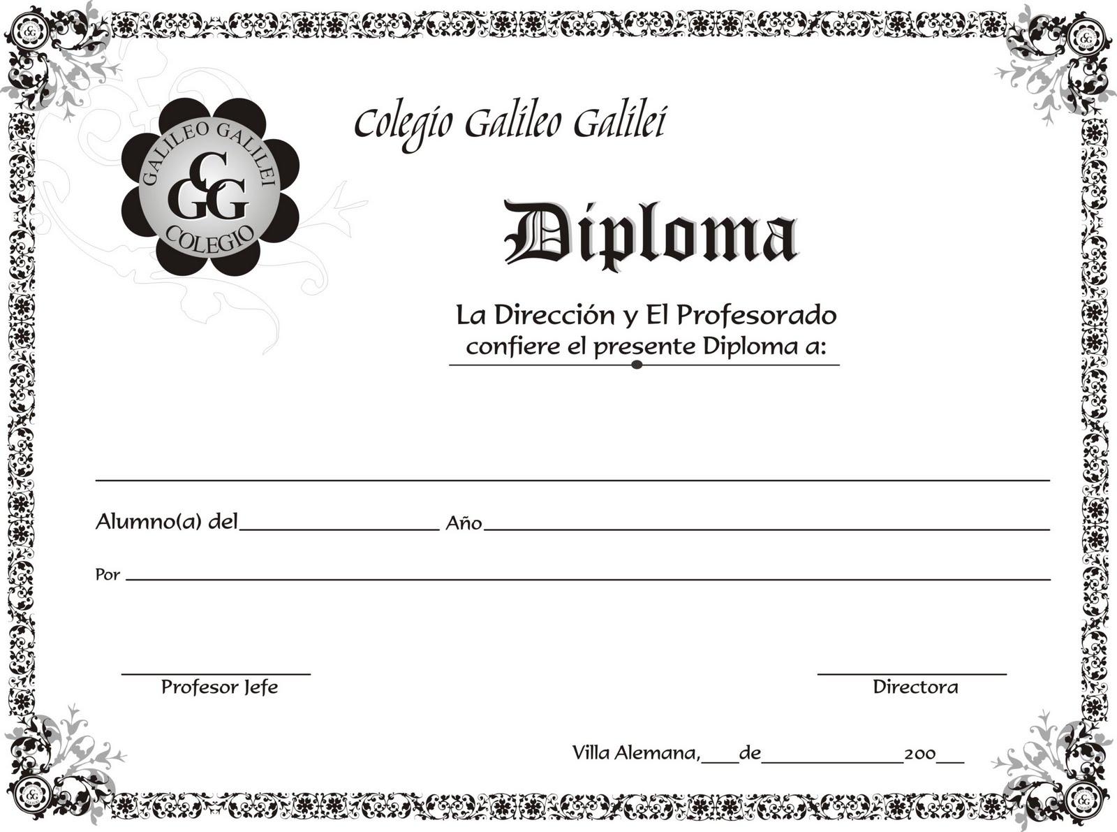 Diseno De Diplomas Gratis