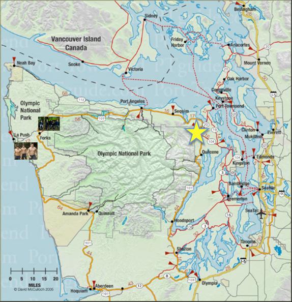 World Peninsula Map Olympic Peninsula Map