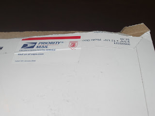 Close up of the envelope (package)