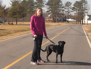 Picture of Duchess & I standing on the road