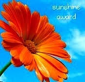Toby's sunshine award - picture of flower