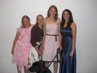 Picture of Sparkie with my friends, my sister & I