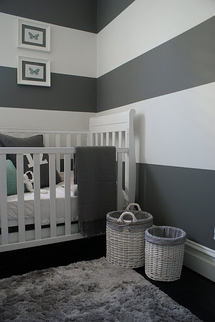Flourish design style 3 things grey brown - White and grey nursery ideas ...