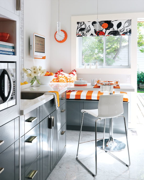My Favorites? The Marble Back Splash And The Grey Cabinets. My Girls Would  Flip For A Little Window Bench At The Tableu2026