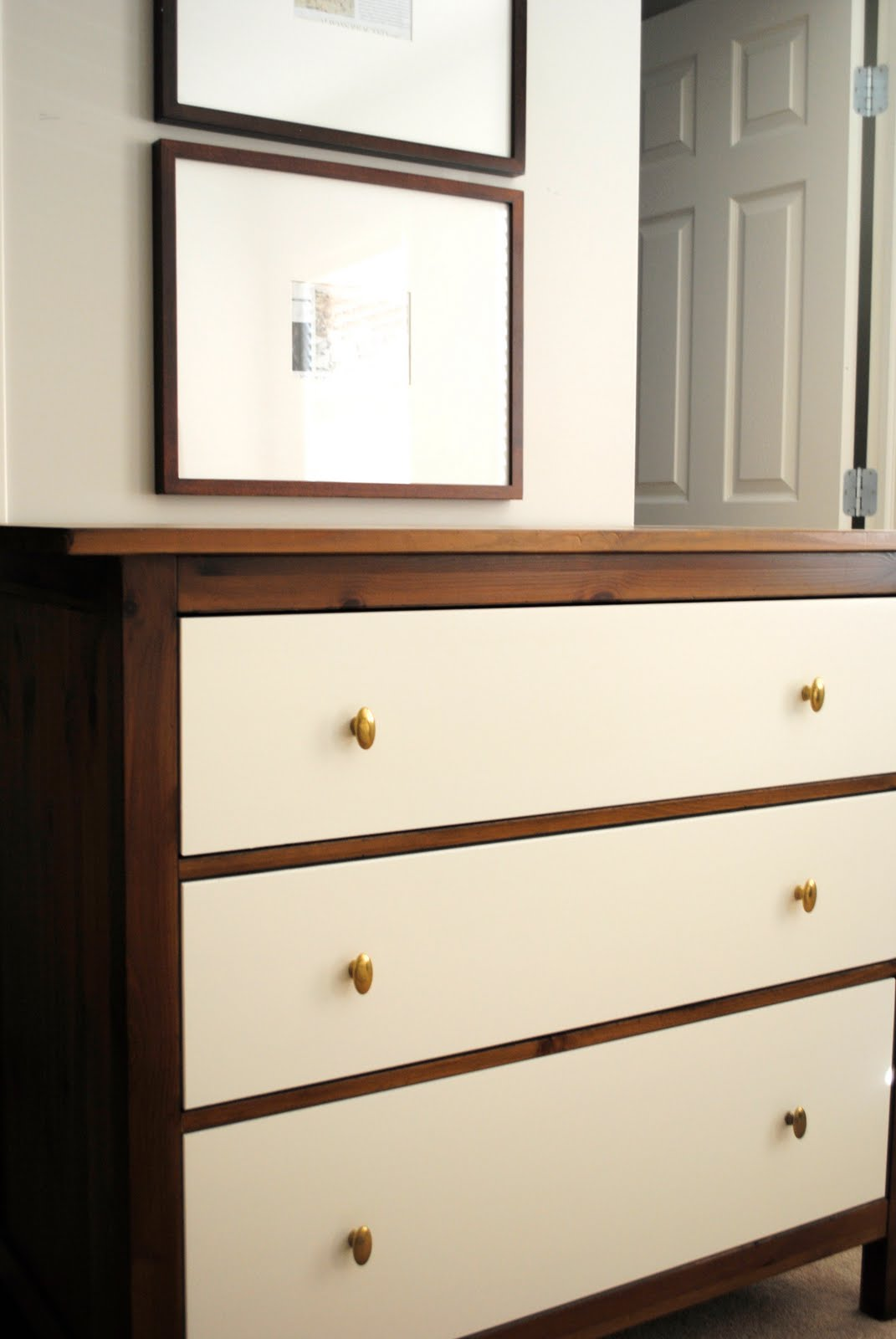 Flourish design style the final update to the ikea for Ikea hemnes dresser hack