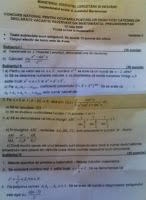 Subiecte matematica titularizare 2009 - judetul Maramures
