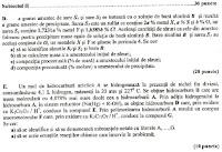 Probleme titularizare chimie