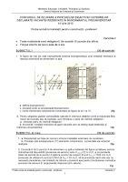 Subiecte titularizare 2010 - instalatii profesori p1