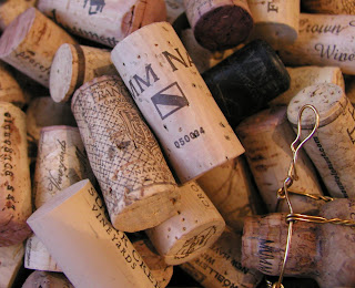 collection of wine corks