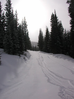 snow skiing trail at Copper Mountain, Colorado