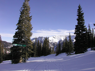 Carefree snow skiing trail at Copper Mountain, Colorado