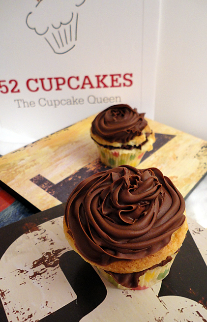52 Cupcakes and Layla: Vanilla Cupcakes with Double Trouble Chocolate ...