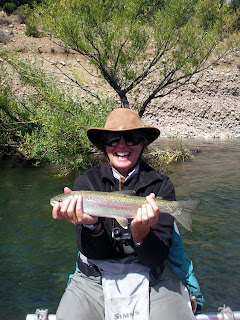 Marianne Brant of Kila, Montana fishing in Patagonia