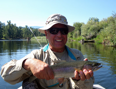 Joe with a rainbow trout