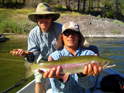 Chris and Peter on the Clark Fork River with Nick Stipich