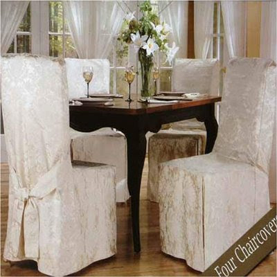 Luxury woven jacquard dining room chair covers 4 pk for 4 dining room chair covers