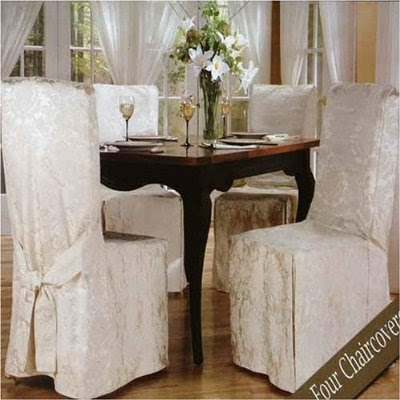 Luxury Woven Jacquard Dining Room Chair Covers 4 Pk Free Food Recipes