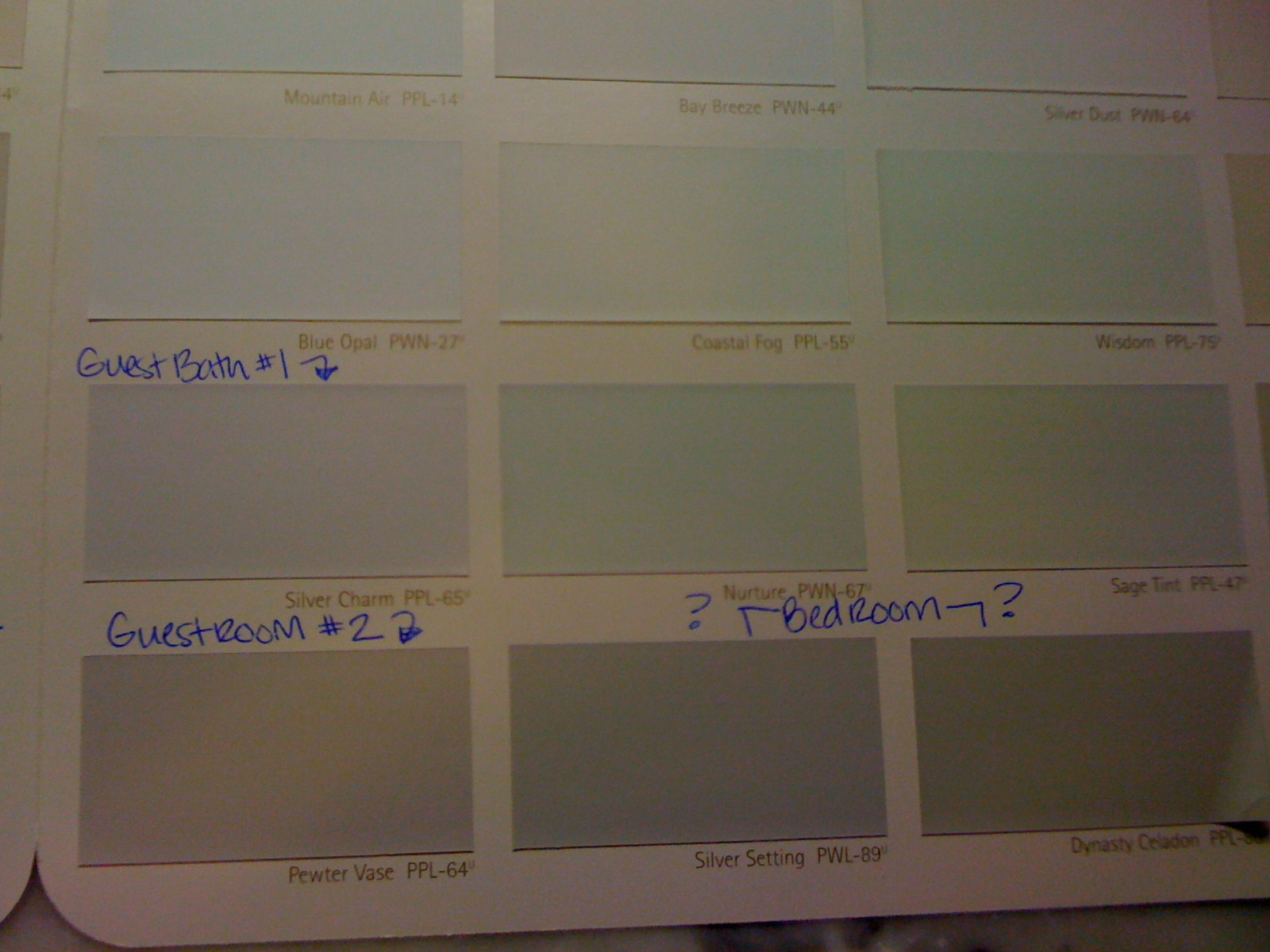 monday august 2 2010 - Celadon Paint Color