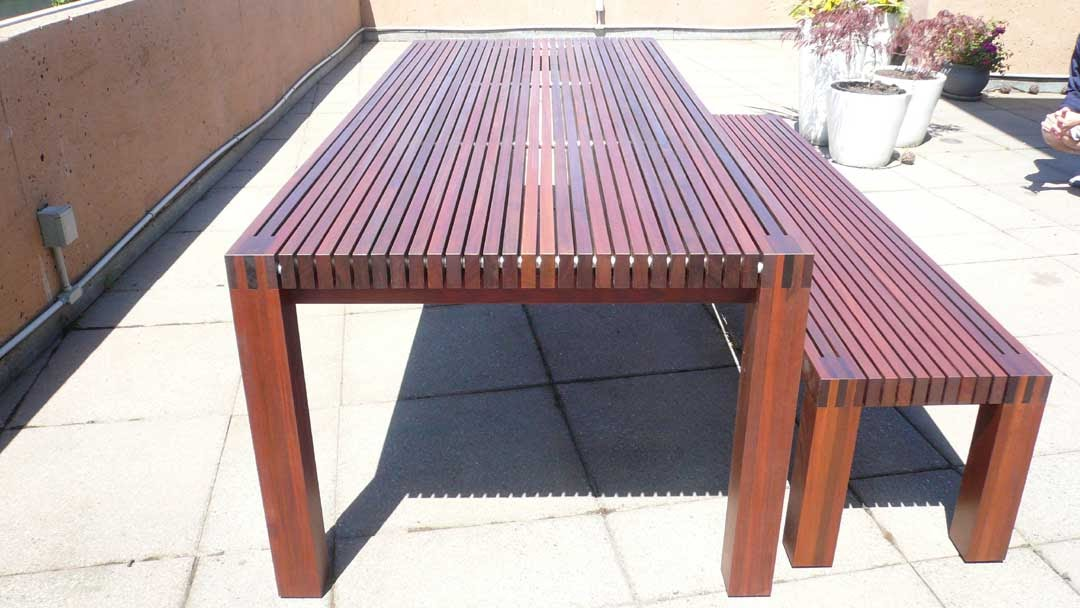 In Element Designs: Ipe Outdoor Table & Bench