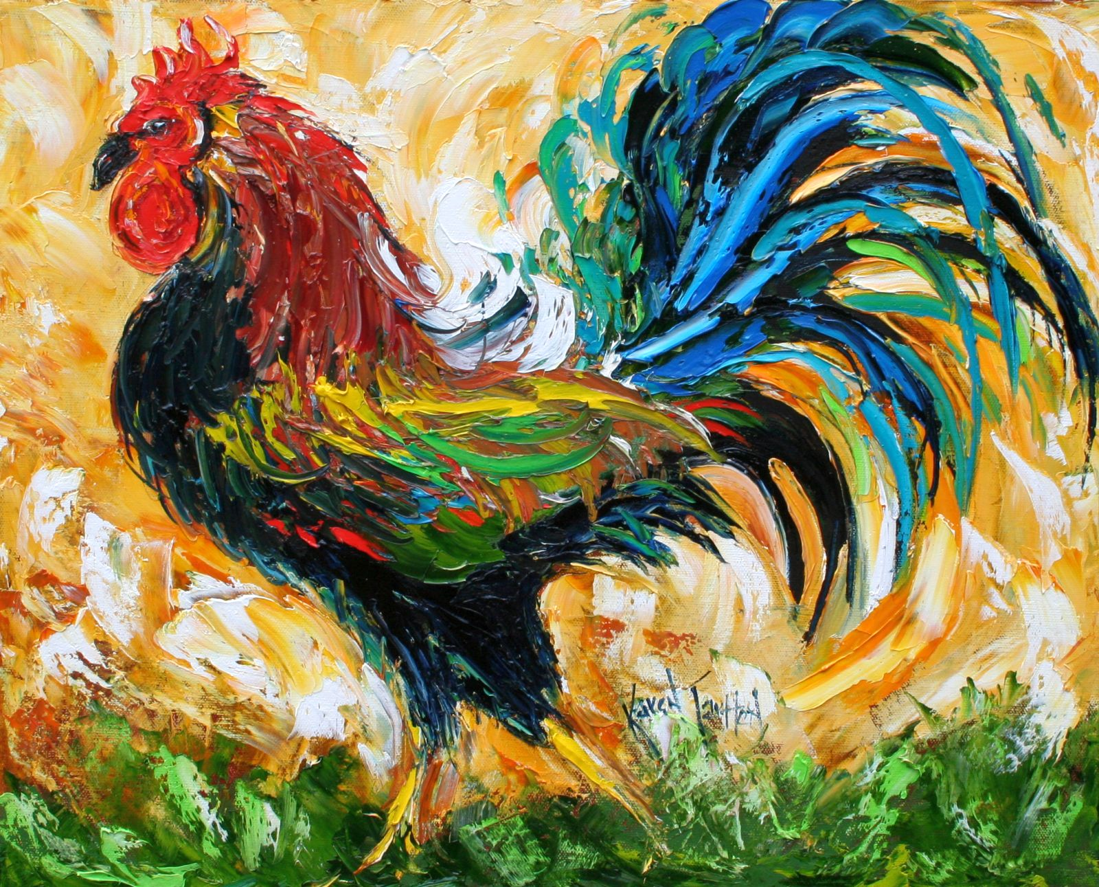 karen tarlton proud and poised rooster