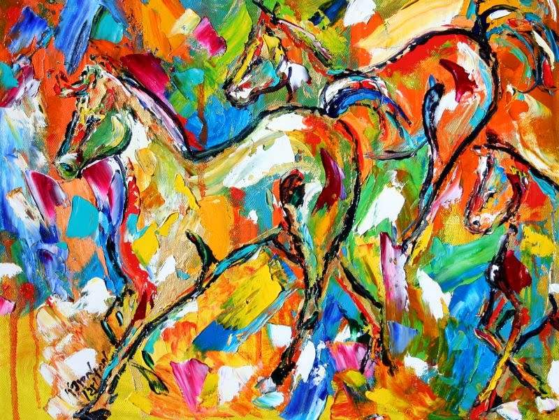 Karen tarlton abstract animals for Abstract animal paintings