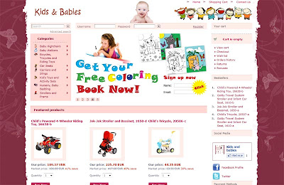 shopping for kids and baby