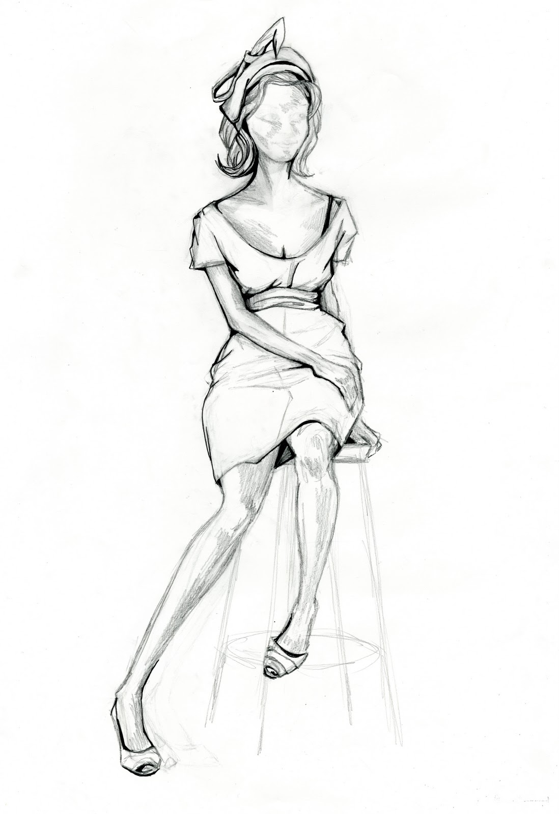 Model Fashion Sketch
