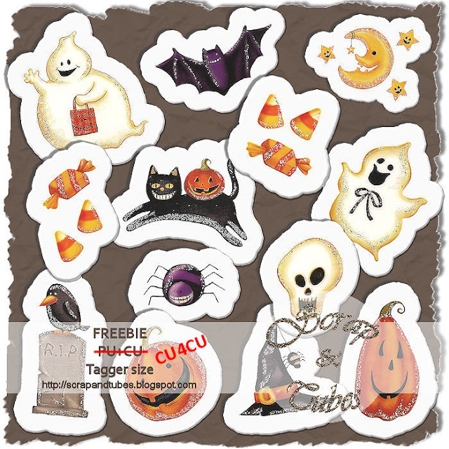 Halloween Stickers (CU4CU) Halloween+Stickers_Preview_Scrap+and+Tubes