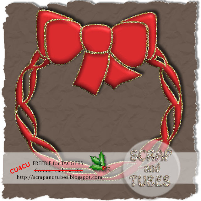 Red Christmas Wreath (CU4CU) SAT_Red+Christmas+Wreath_Preview_Scrap+and+Tubes