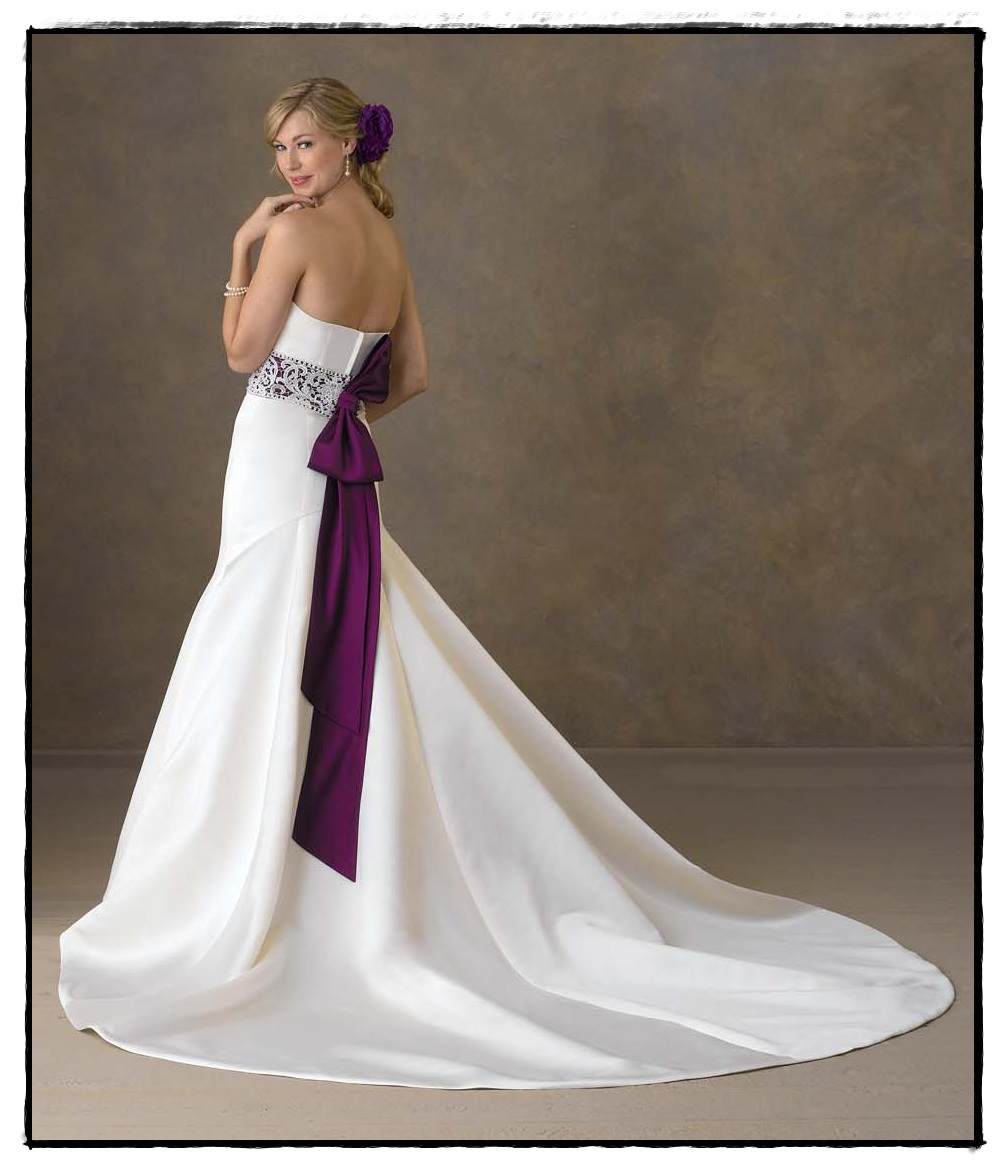 Blog add a little color to your wedding gown you could pair this bridal gown with style 7035 from our social occasion wear line the vertical bows tie it all in junglespirit Choice Image