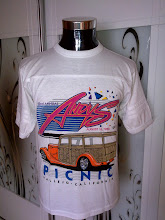 VINTAGE 1988 ANDY'S CALIFORNIA PICNIC 50/50 KAIN SAMBUNG SHIRT VERY RARE  (front) (SOLD!!!!!)