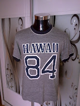 VINTAGE HAWAII 84 3 BLEND RINGER SHIRT VERY RARE!!!!! (STRICTLY NOT FOR SALE!!!!)
