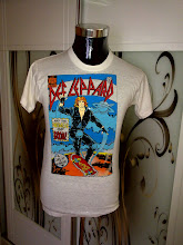 VINTAGE 1987/1988 DEF LEPPARD 50/50 T SHIRT very2 rare design (1) (SOLD!!!!)