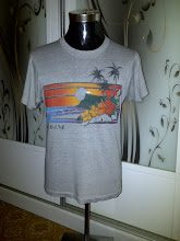 VINTAGE HAWAII GUAM 50/50 T SHIRT KAIN PASIR (NOT FOR SALE)