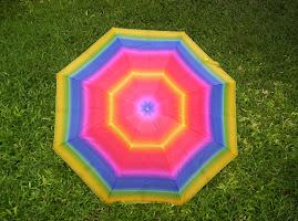 umbrella in the grass