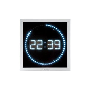 Clock design ideas digital led wall clock square by karlsson Digital led wall clock