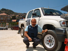 Gene Roca during a Risk Security Assessment mission in Lebanon during the last war (Aug. 2006)