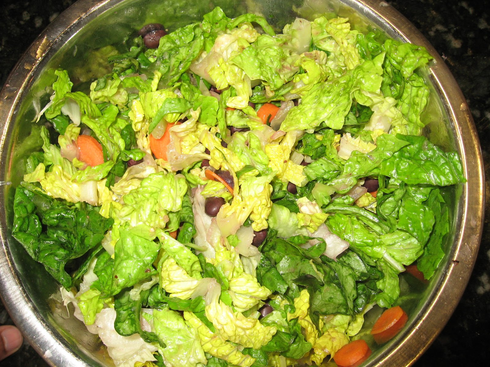 Lettuce Black Bean Salad