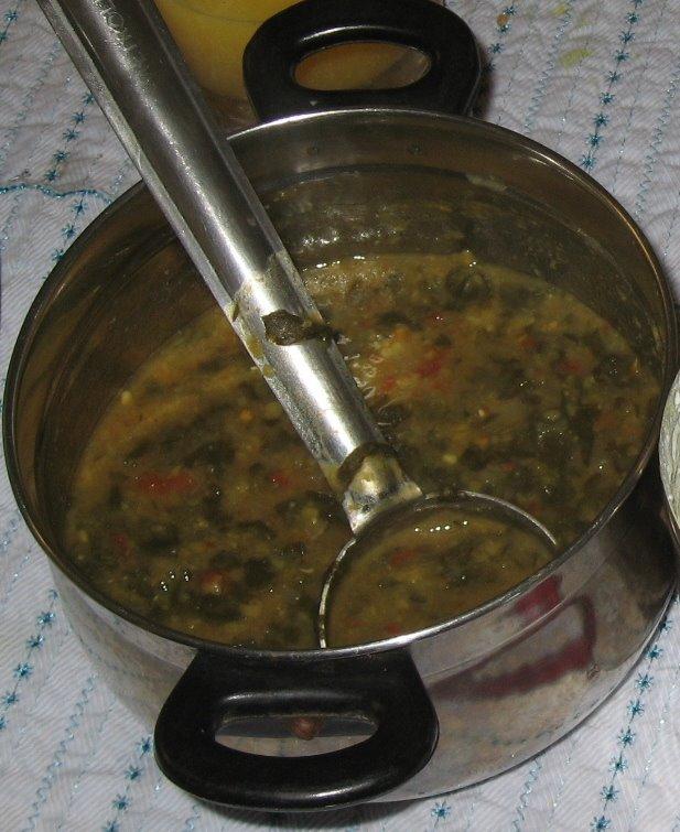 Spinach Kuzhambu