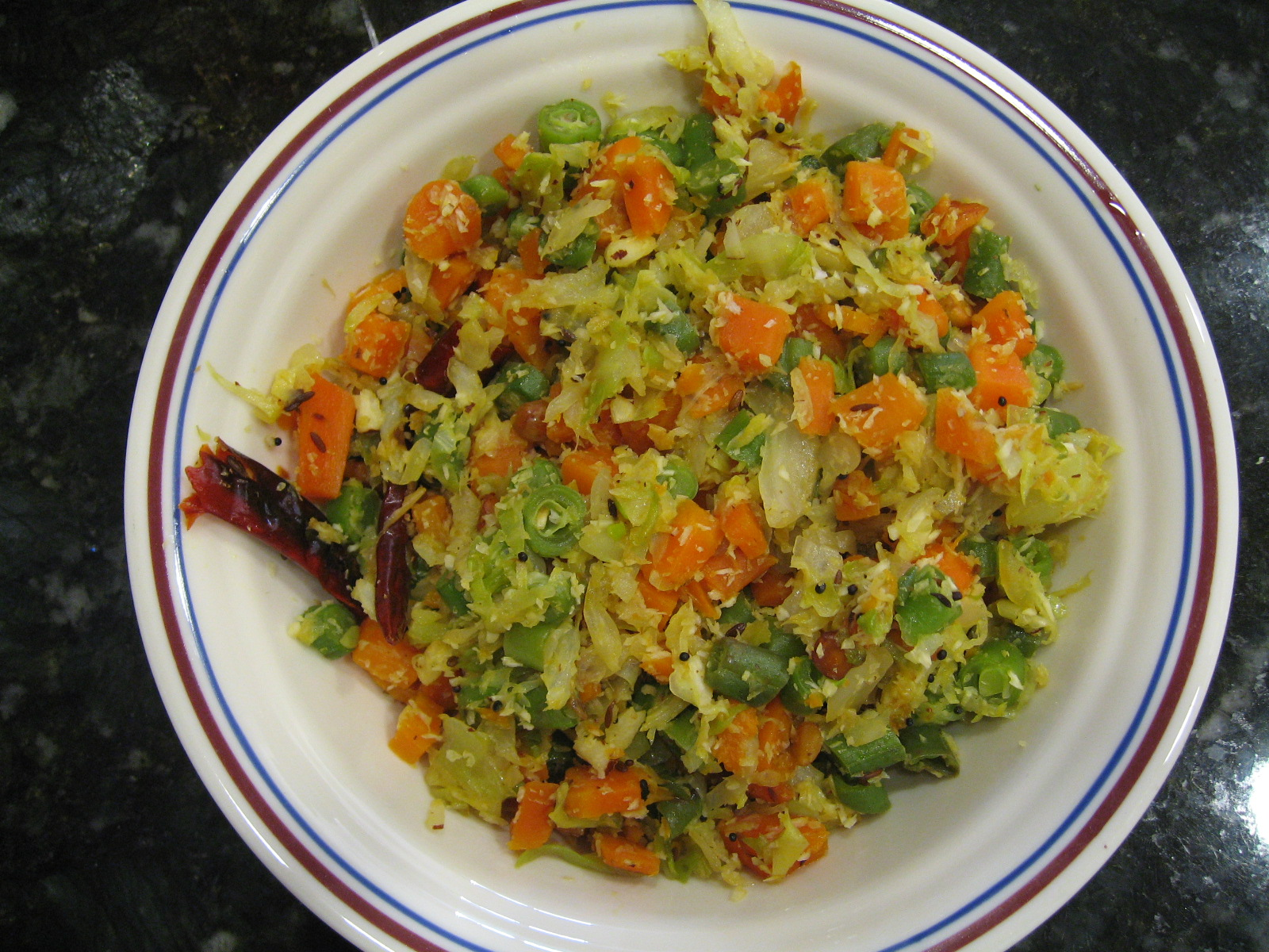 Mixed Vegetable Poriyal