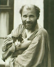 Gustav Klimt and his cat