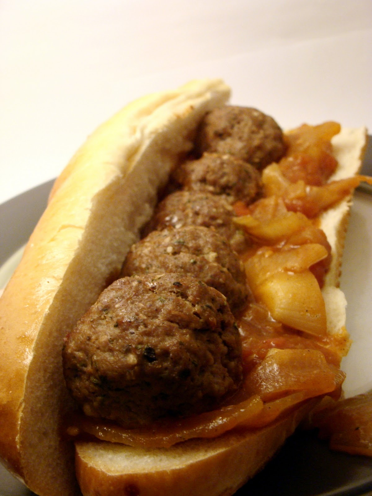 Cantstopbaking: Sweet and Spicy Philly Meatball Subs