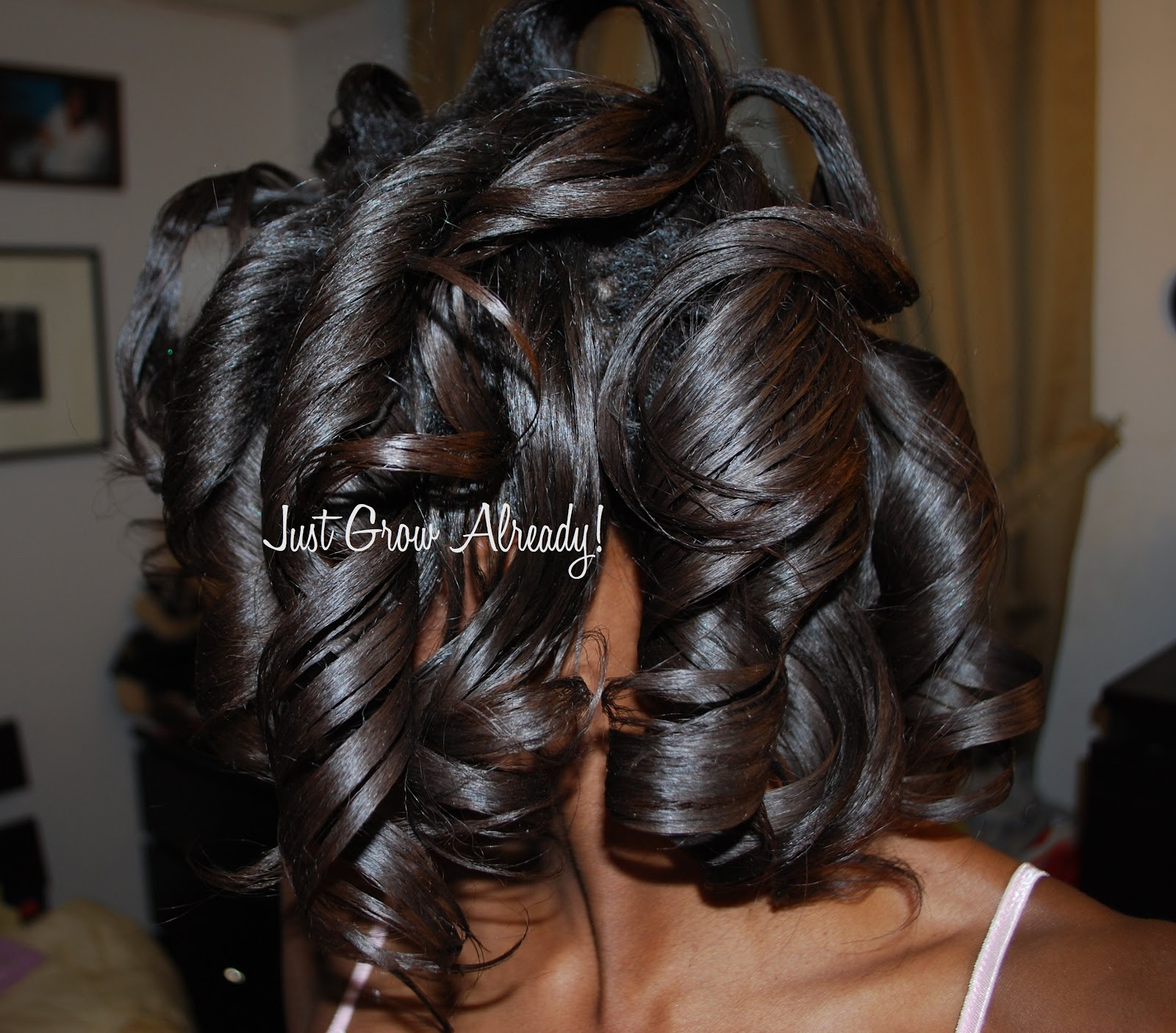 how to sew straight : Roller Wrap Black Hair To roller set my hair*