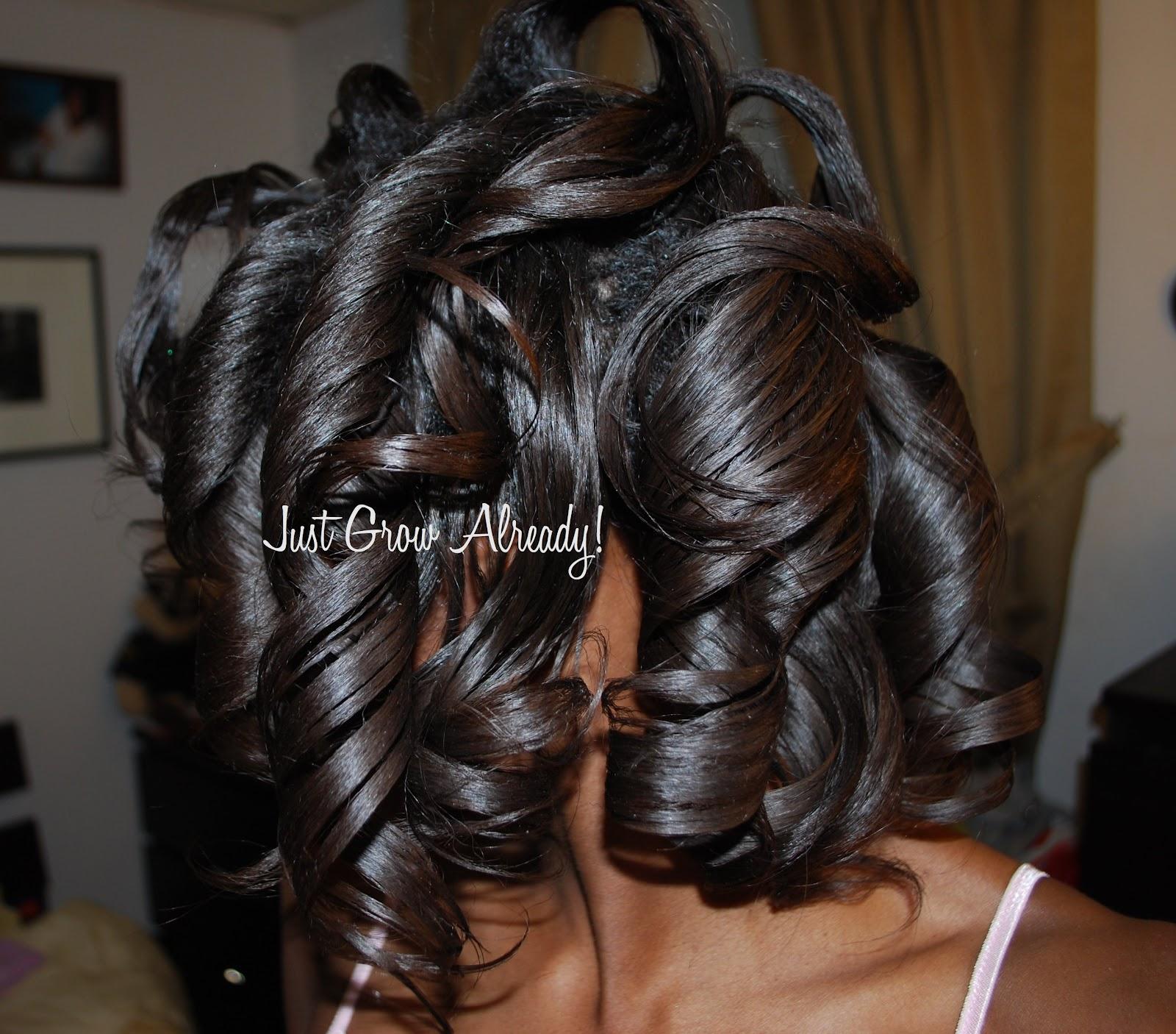 Roller Set Natural Hair C