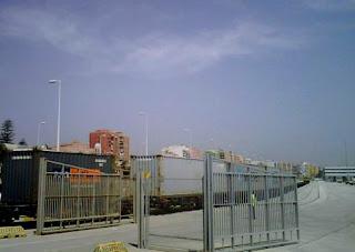 Puerto de Algeciras, terminal ferroviaria