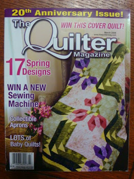 I'm in The Quilter Magazine